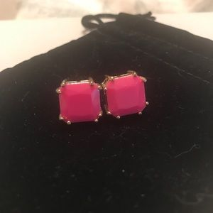 Jewelry - Preppy hot pink stud earrings 💕